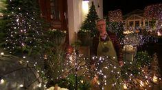 Udendørs er der masser af lys, både som lyskæder, levende lys og ikke mindst islygter, som er lavet af balloner. Dalbys jul.
