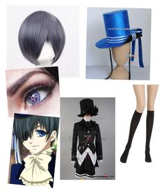 """Black butler cosplay- Ciel Phantomhive"" by lucy-the-llama on Polyvore featuring Coshome, Ciel and Wolford"