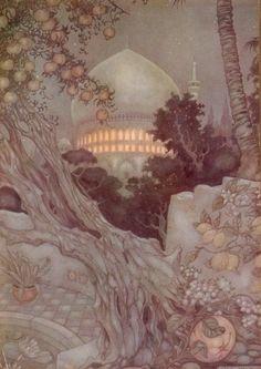 "firefluff: "" Artwork by Anton Pieck "" lemons and pomegranates"