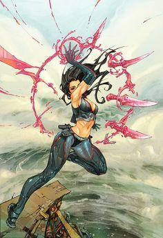Psylocke by Kenneth Rocafort