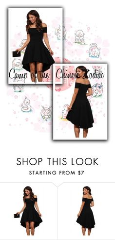 """""""Black All The Rage Skater Dress"""" by labixiaowen ❤ liked on Polyvore"""