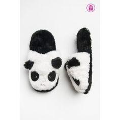 Panda slip on fur slippers Panda, Slippers, Slip On, Fur, Dress, Slipper, Pandas, Feather, Fur Coat