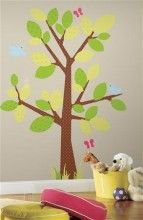 This is awesome for the classroom or the kid's playroom http://www.muralsforkids.com/products/Birds-and-Tree-Kids-Wall-Decal-Set.html