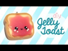 Jelly Toast! Kawaii Friday 174 polymer clay charm tutorial