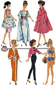 Coat Fur Hat Bikini Kimono 1960s PATTERN for by BlondiesSpot