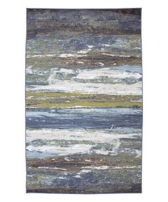 This Blue Abstract Shore Spa Rug is perfect! #zulilyfinds