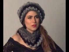 TEJIDO GORRO Y CUELLO - Gancho fácil y rápido - Yo tejo con LAURA CEPEDA - YouTube