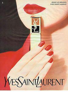 PUBLICITE-ADVERTISING-044-1987-YVES-SAINT-LAURENT-cosmetiques-jouez-les-rou