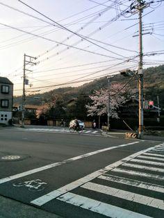 松ヶ崎の旧街道と北山通の合流地点。
