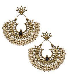 Blossom Box Onyx Pearl Gatsby Earrings #maxandchloe