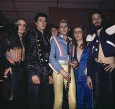 Roxy Music, 1973: Brian Eno, Bryan Ferry, John Porter, Andy Mackay, Paul Thompson and Phil Manzanera