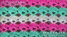 Crochet Shell Stitch 001 - Stitchorama by Naztazia - YouTube