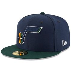 Utah Jazz New Era Official Team Color 2Tone 59FIFTY Fitted Hat - Navy/Green