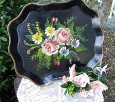 tole painted trays