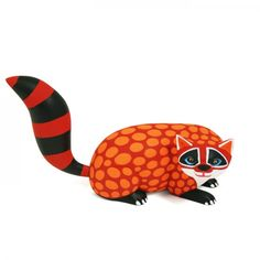 Luis Pablo Raccoon-  #woodcarving Oaxaca Mexico