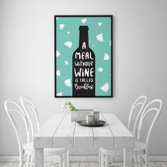 Deko-Objekte - Lustige Küche plakat, Wein Druck, Mode Plakat - ein Designerstück von LovelyDecor bei DaWanda