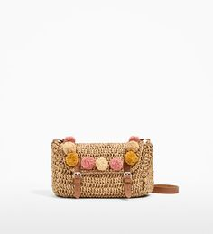Discover the new ZARA collection online. Zara Kids, Crochet Wallet, Homemade Bags, Crochet Mittens Free Pattern, Rope Decor, Crochet Teddy, Crochet Shoes, Crochet Handbags, Girls Bags