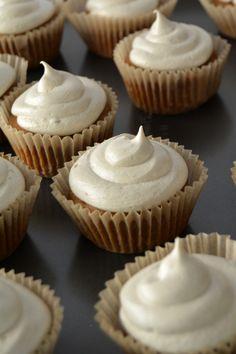 vegan coconut sugar cupcakes with caramel buttercream frosting