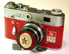 USSR Vintage Red Star FED-3 camera Russian LEICA 50-year anniversary -from RussianVintage♥♥♥