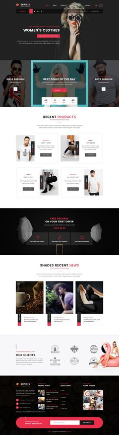 Shades is a clean, creative and modern #PSD template for Companies, Enterprises, Businesses, #Agencies, Personal Blogs, or Freelancers #website. Download Now!