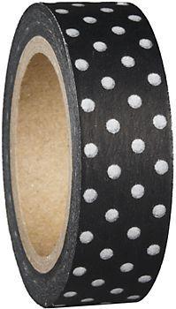 Black Polka Dots Washi Tape