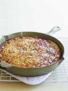 Zucchini and ricotta frittata-Donna Hay Vegetable Dishes, Vegetable Recipes, Vegetarian Recipes, Cooking Recipes, Healthy Recipes, Savoury Recipes, Savoury Slice, Savoury Tarts, Donna Hay Recipes