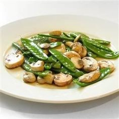"""Stir Fried Snow Peas and Mushrooms 