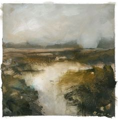 """Joel Brock, """"Samish Landscape II,"""" 2012, acrylic, gesso and charcoal on canvas, 10"""" x 10"""""""