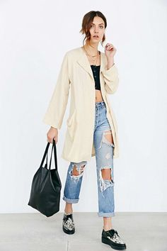 Sporty Outfits   How to wear boyfriend jeans for fall… ea902728fba