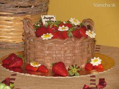 Torta - košík s jahodami (fotorecept)