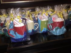 Ice Skating Party Favor-- Mug, cookies, Hot chocolate, marshmallows and Hershey bar