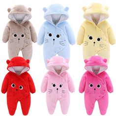 Rompers are one piece garments that are specially tailored for kids, newborn, infants and toddlers. Check out the best Baby Jumpsuit, Baby Boy Romper, Winter Baby Clothes, Baby Winter, Newborn Outfits, Baby Boy Outfits, Girls Rompers, Baby Rompers, Cartoon Outfits