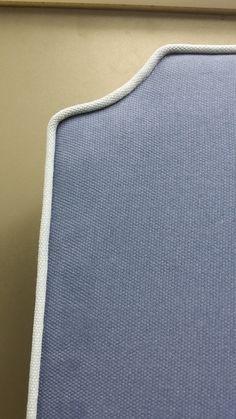 Habillage d'une tête de lit tissu Nobilis