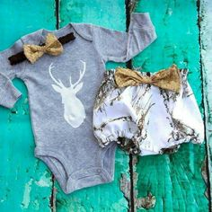 Baby girl country outfit camoflauge