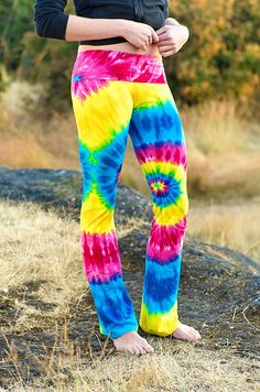 Tie Dye Girly Yoga Pant by Wildflowerdyes on Etsy, $39.00