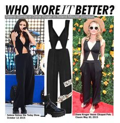 """""""Who Wore It Better?Selena Gomez or Diane Kruger in Roland Mouret Jumpsuit"""" by kusja ❤ liked on Polyvore featuring Roland Mouret, Alaïa, Louis Vuitton, WhoWoreItBetter, selenagomez and wwib"""