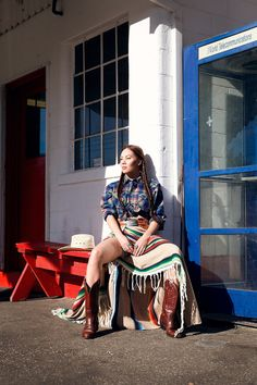 Monica Miyagi | Editorial | rest stop | stella+parker revival | Permanent Glimpse Photography | Western Style | Pendleton
