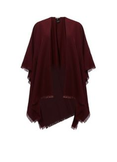 Reiss Tally poncho in bordeauxrood