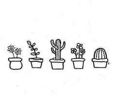 cute little succulents – Drawing Cute Drawings Tumblr, Cute Little Drawings, Cute Easy Drawings, Doodle Drawings, Doodle Art, Doodle Ideas, Succulents Drawing, Cactus Drawing, Succulents Art