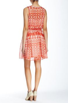 Townsen Roots Printed Silk Dress