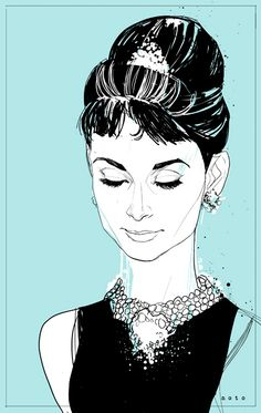 Holly Golightly (Breakfast at Tiffany's) by Phil Noto     http://philnoto.tumblr.com/post/18865217860/holly-golightly