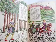 antigo livro ilustrado de muitos contos de fadas, anos 50!!!
