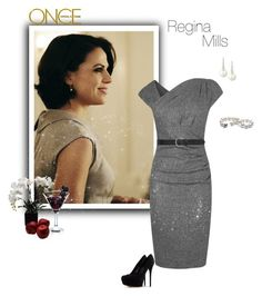 """OUAT - Regina Mills"" by greerflower ❤ liked on Polyvore featuring L.K.Bennett, Once Upon a Time, Casadei, Belpearl and M&Co"