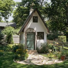 I would love to create a mini house in our backyard that matches the style of our home//Andrea Rugg - Gardens and Landscape