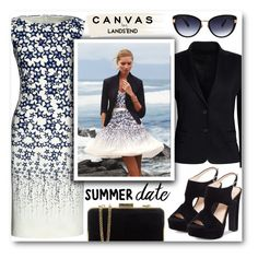 """""""Paint Your Look With Canvas by Lands' End: Contest Entry"""" by katrinaalice ❤ liked on Polyvore featuring Canvas by Lands' End, Lands' End, Oscar de la Renta, Jessica Simpson and MICHAEL Michael Kors"""