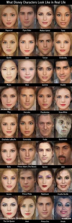 What Disney Characters Look Like in Real Life. This is amazing. // holy cow Flynn is very attractive.