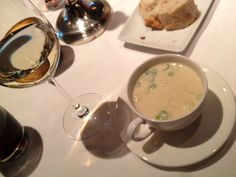 Asparagus soup at La Sociéte restaurant in Oegstgeest, near Leiden (26 June)