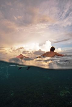 A sunset surf session is a magical thing.