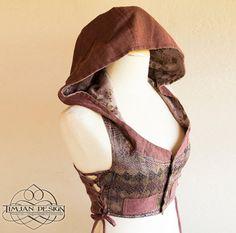 HOODIE LOTUS VEST  Cropped Waist coat  Hippie Boho by TimjanDesign, kr570.00