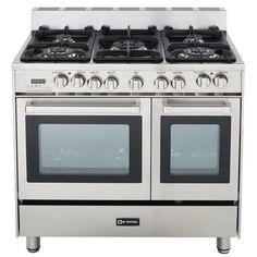 best double oven gas range. Verona 36\ Best Double Oven Gas Range E